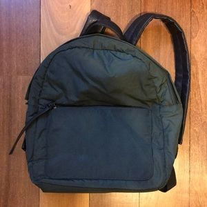 Green & Leather backpack